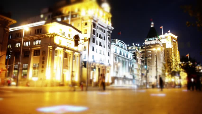 Time lapse Shanghai bund traffic at night,blur style old-fashioned building. gh2_06902 | Shutterstock HD Video #12181256