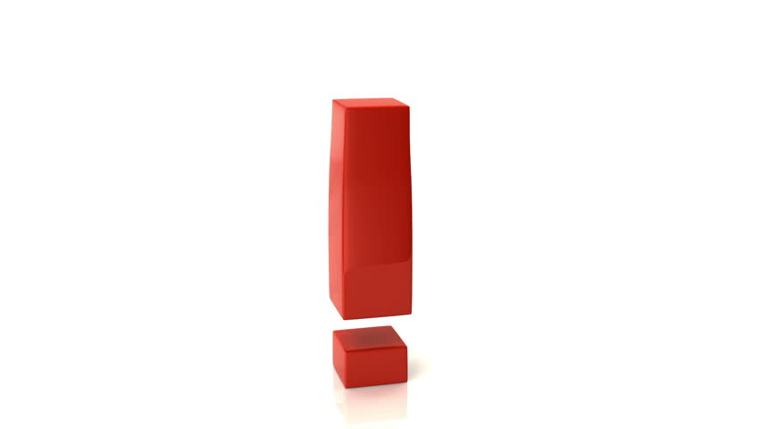 Rotating Exclamation Mark Is The Question Mark, 3d