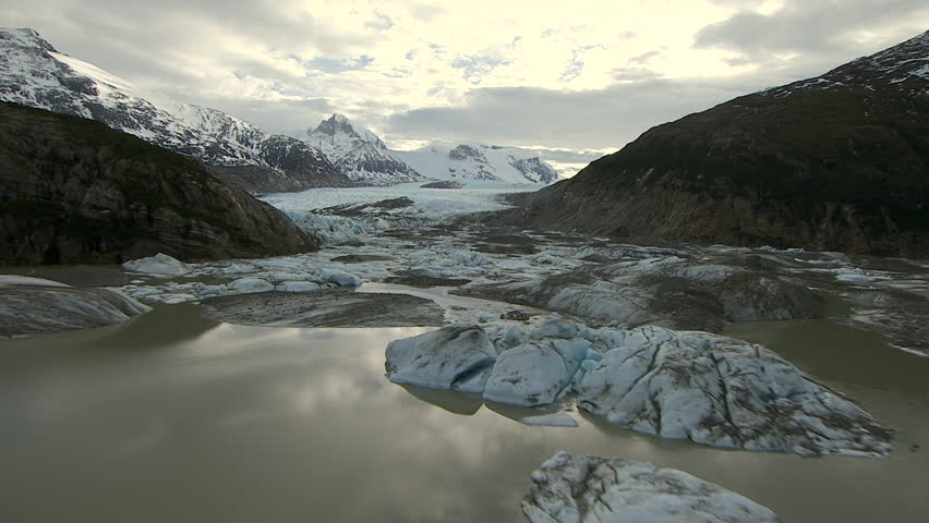 MS DS ZI AERIAL View of glaciers, mountains / Patagonia, Chile | Shutterstock HD Video #12212933