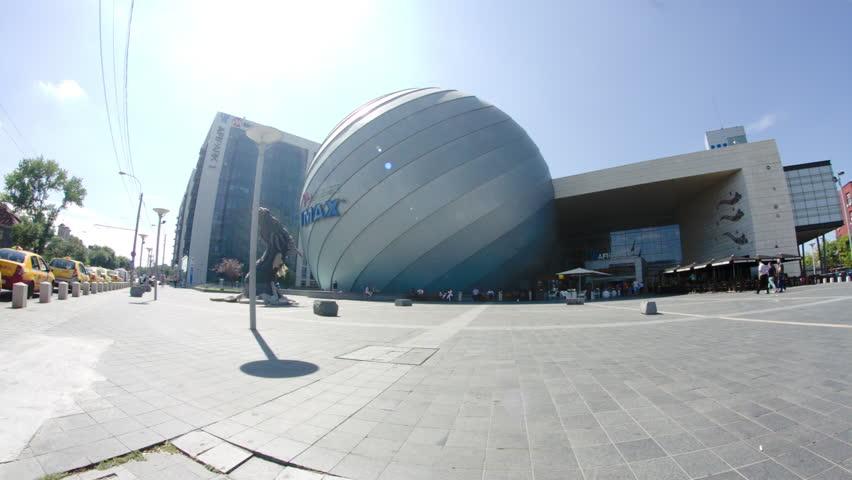 Modern Architecture Videos bucharest, august the 4th 2015, big business center in bucharest