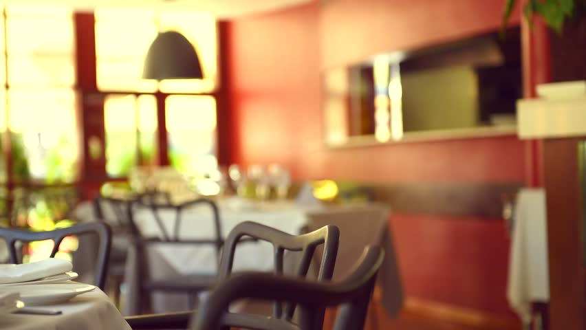 Lobby Hotel Blurred Background Stock Footage Video