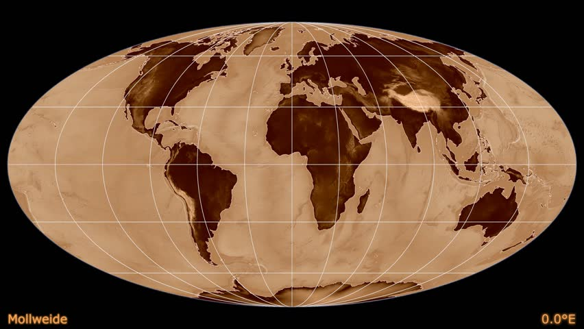Distortion patterns animated world map in the robinson projection distortion patterns animated world map in the mollweide projection shaded elevation map used gumiabroncs Images
