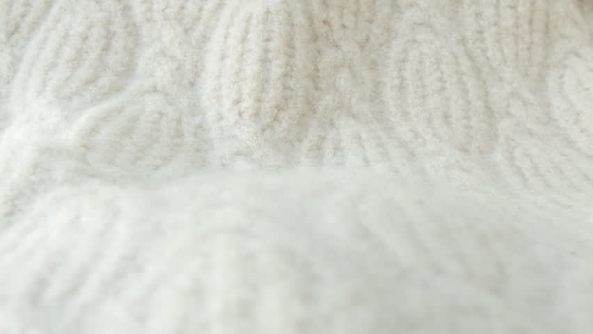 Soft White Woollen Fabric Background Hd Stock Footage