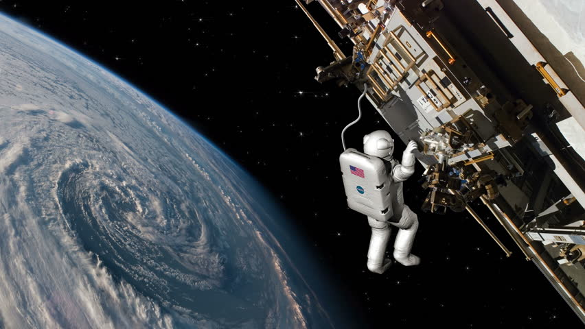 astronaut working in space - photo #19