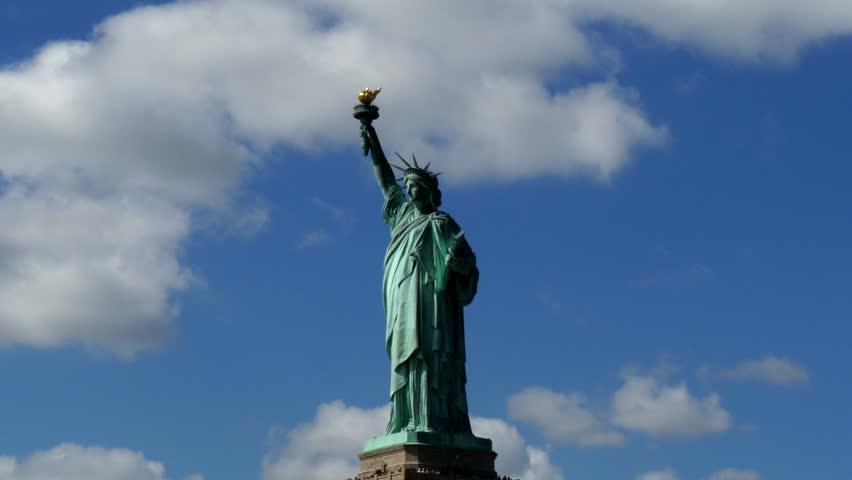 Passing Liberty Statue New York 4K UHD | Shutterstock HD Video #12341696