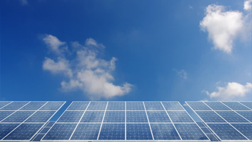 Solar Panels Silicon Photovoltaic Cell Stock Footage