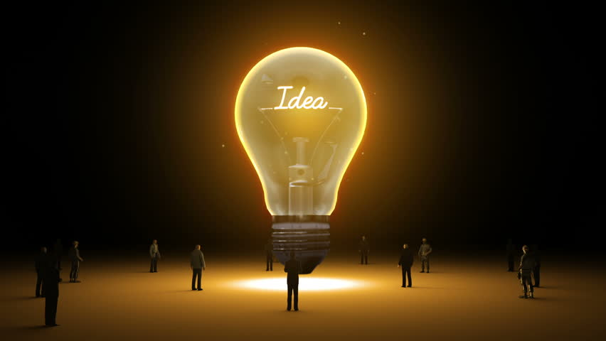 Typo U0027Ideau0027 In Light Bulb And Surrounded Businessmen, Engineers, Idea  Concept(