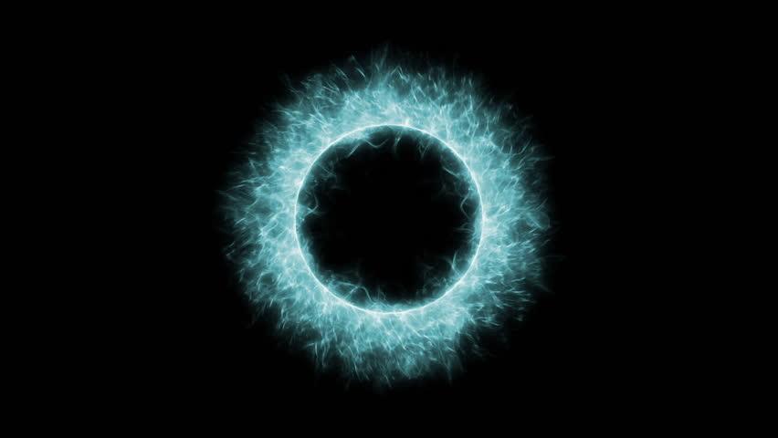 Rotate Circle Lightning Nimbus Electricity Ring Tech