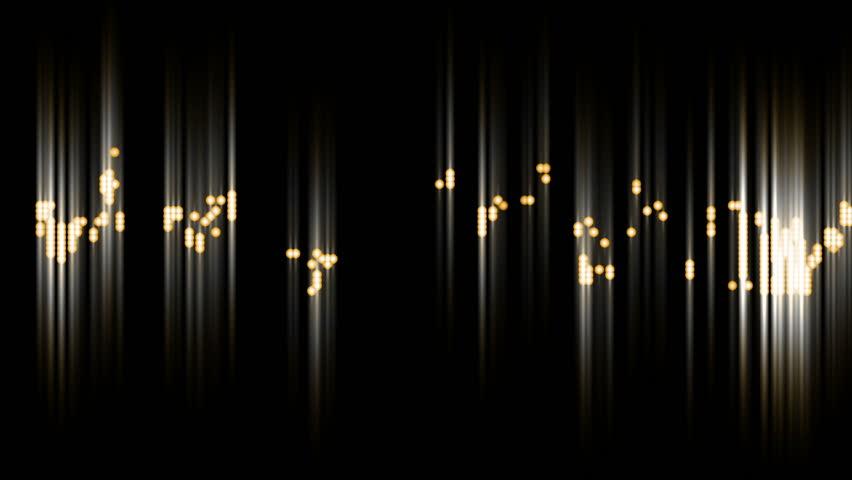 Fancy Light Effects In A Dark Background Stock Footage