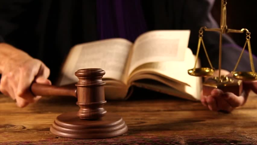 Gavel Pounded On Block, Judge, Stock Footage Video (100%