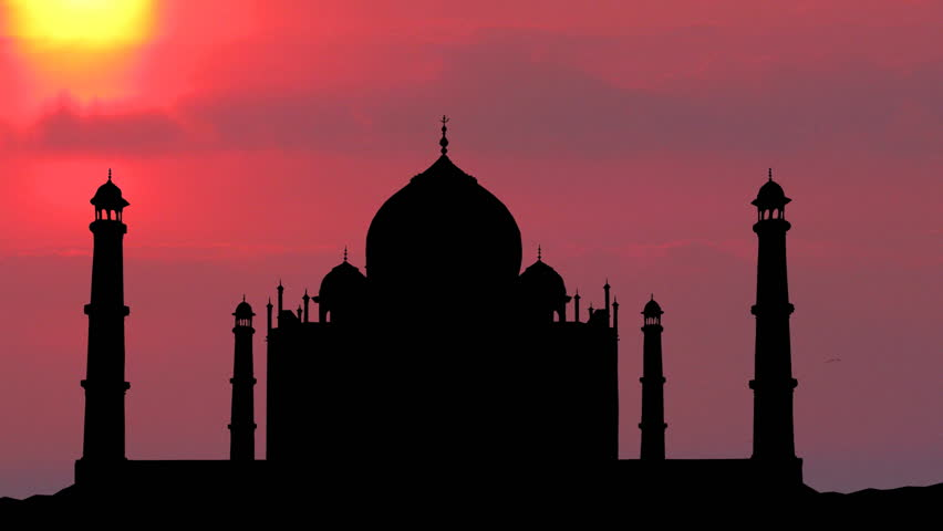 Purple sunset, Taj Mahal.