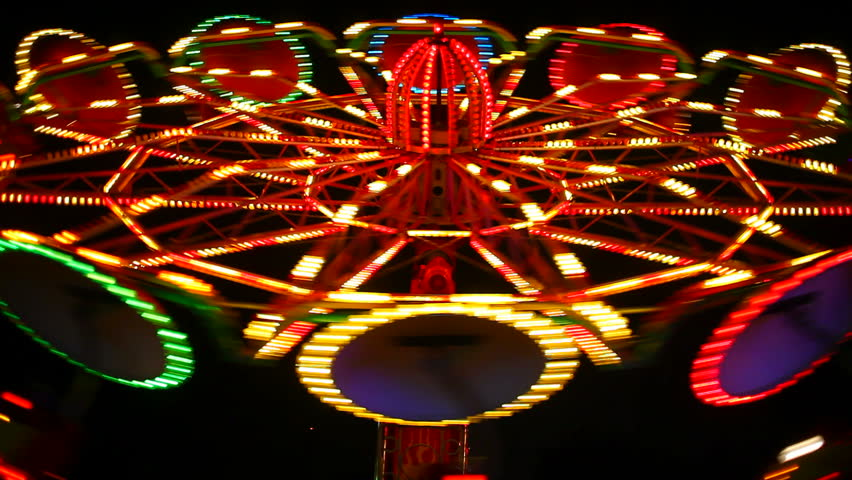 light effect Fun at fairground