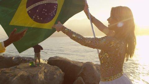 Celebrating for Carnival in Brazil