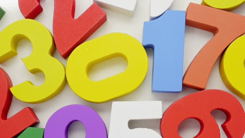 Colorful numbers on white background.  | Shutterstock HD Video #12441524