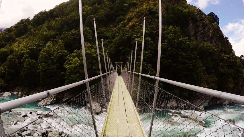 New Zealand Mountain Bridge | Shutterstock HD Video #12470276