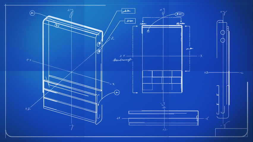 Graphic design layout process time lapse blueprint stock footage classic smartphone technical drawing blueprint hd stock video clip malvernweather Gallery