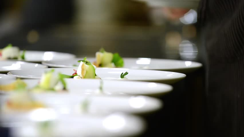 catering company preparing large numbers of food