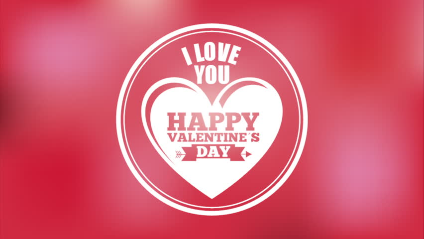 Happy Valentines Day all You Need Is Love Footage Video – Valentine Day Video Card