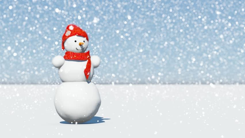 finest selection fcfaa 36575 Dancing Snowman Under Snowfall. Stock Footage Video (100% Royalty-free)  12728666   Shutterstock