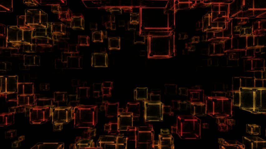 Abstract Sketchy Moving Blocks Background - Loop Orange | Shutterstock HD Video #12754706