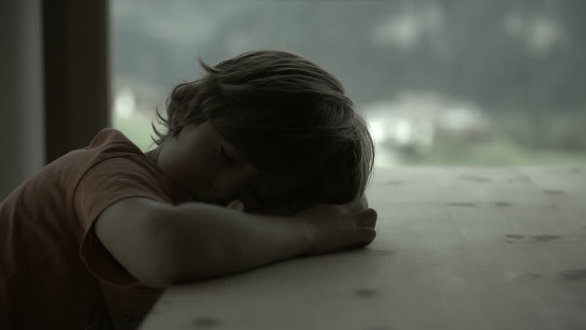 Sad desperate boy crying at home in darkness | Shutterstock HD Video #12790676