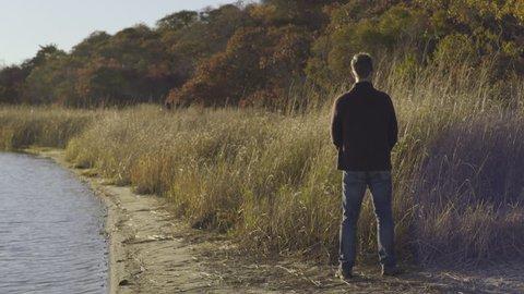 Man Pees Next To Lake, Then Turns Around And Enjoys View