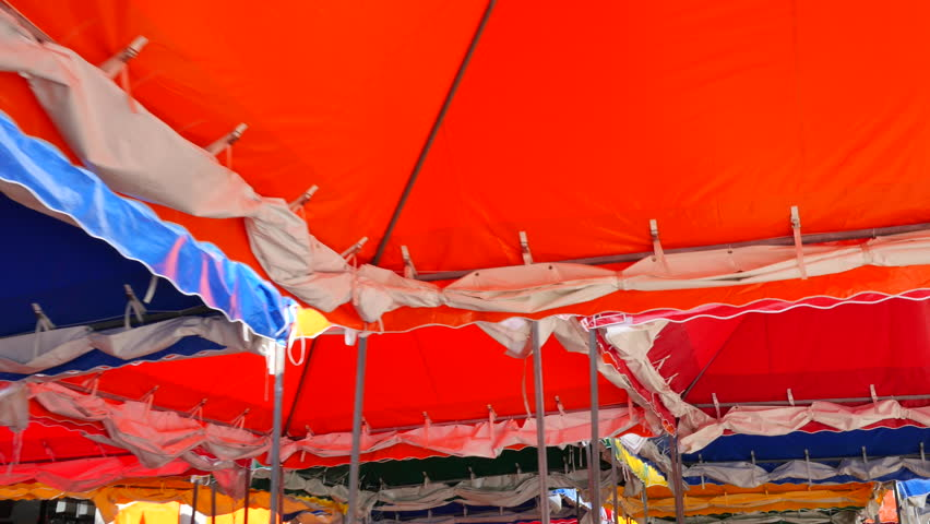 Colorful carnival tents & Colorful Carnival Tents Stock Footage Video (100% Royalty-free ...