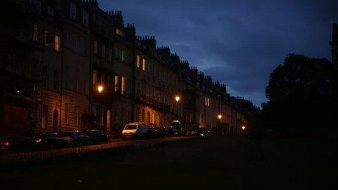 English City at Night (Bath City at Night), GB, UK, England, Europe