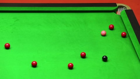 Mix shoot snooker ,sinking the ball on the break.