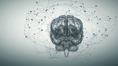 Animation illustrating the thought processes in the brain. Seamless looping
