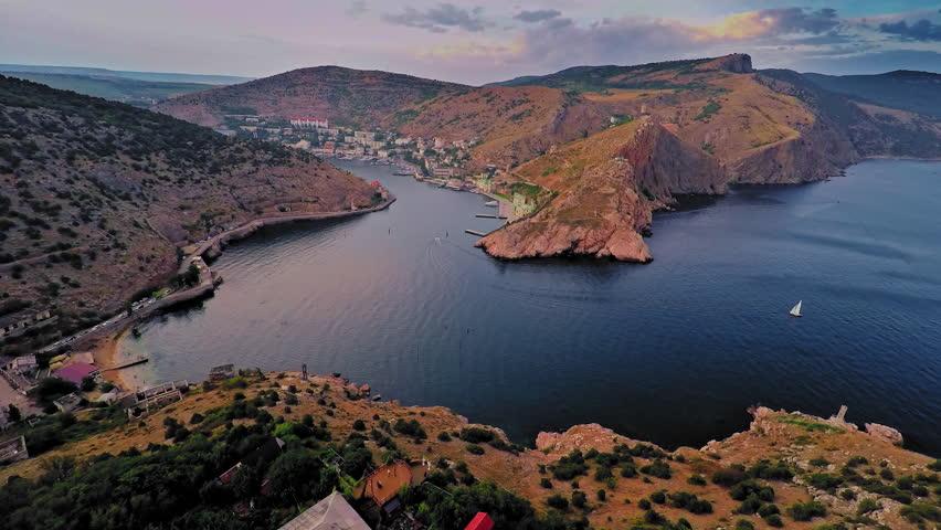 Russia, Crimea, Sevastopol ,the Bay of Balaklava, August 2015   Shutterstock HD Video #12913622