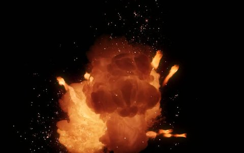 High speed camera shot of an fire element, isolated on a black background. Can be pre-matted for your video footage by using the command Frame Blending - Multiply.