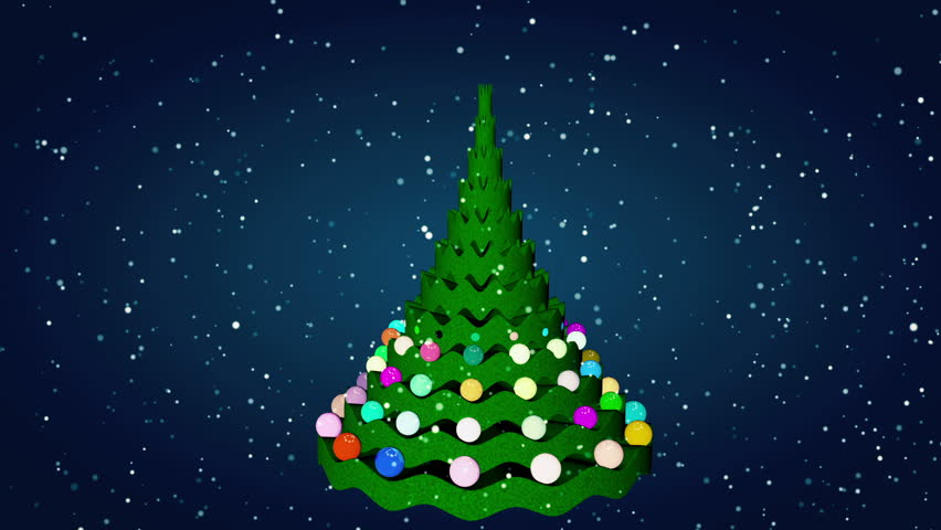 Christmas Tree Animation   HD Stock Video Clip