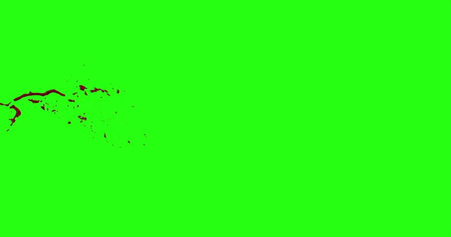 4k Blood Burst Motion Blur (Green Screen) 39 #12952286