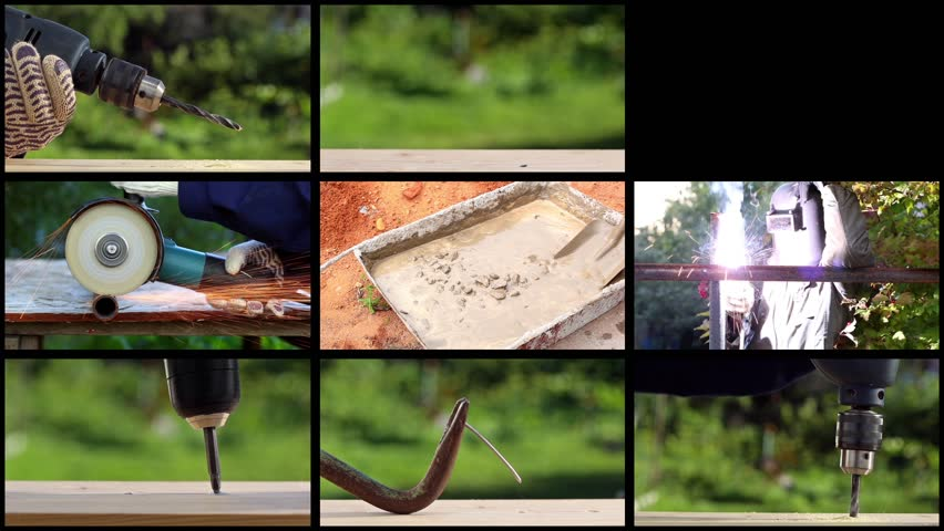 Collage with different construction activities  | Shutterstock HD Video #12970766