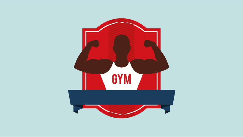 Gym Icon Design Video Animation Stock Footage Video 100 Royalty