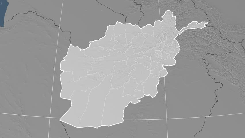 Nimroz Province Extruded On The Elevation Map Of Afghanistan - Map with elevation data