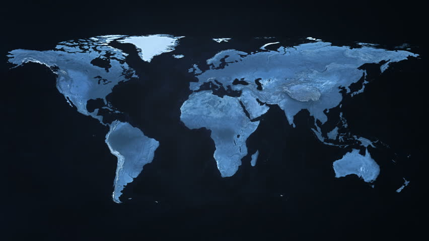 Digital World Map Stock Footage Video (100% Royalty-free) 13022756 |  Shutterstock