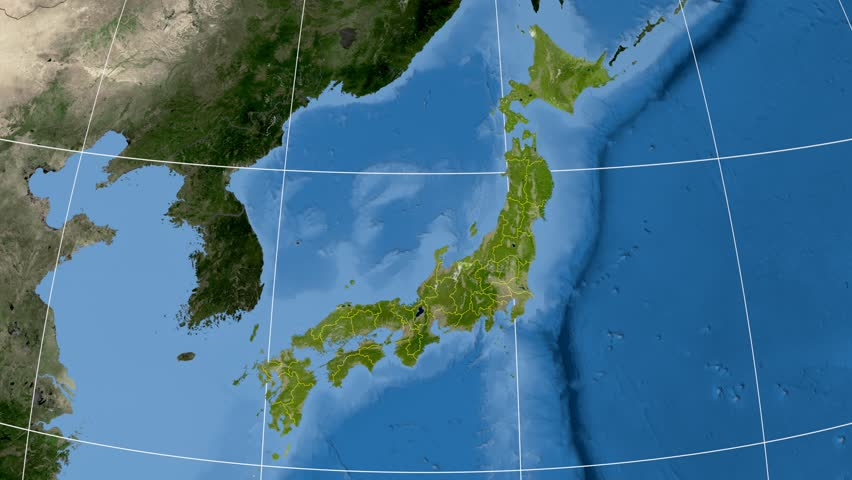 Fukuoka Prefecture Extruded On The Administrative Map Of Japan