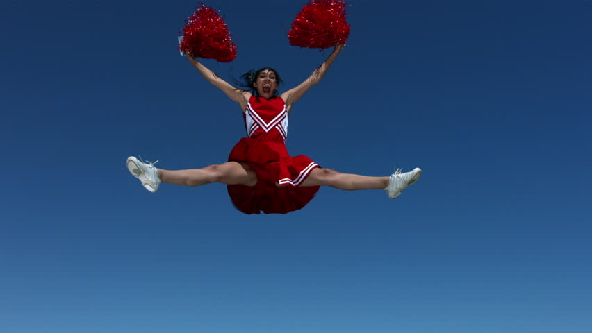 Cinemagraph - Cheerleader, slow motion. Looping Motion Photo.  #13097006