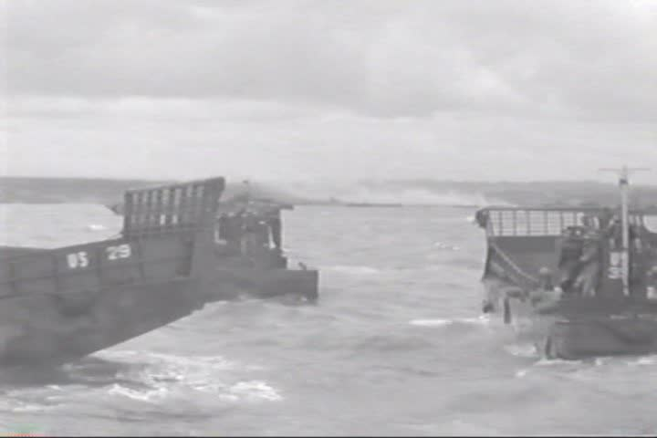CIRCA 1940s - Invasion convoy crossing through France on D-Day 1944. | Shutterstock HD Video #13113116