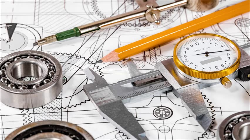 Technical Drawing and Tools Stock Footage Video (100% ...