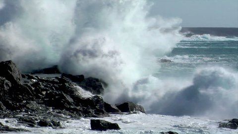 extreme wave crushing vulcan coast