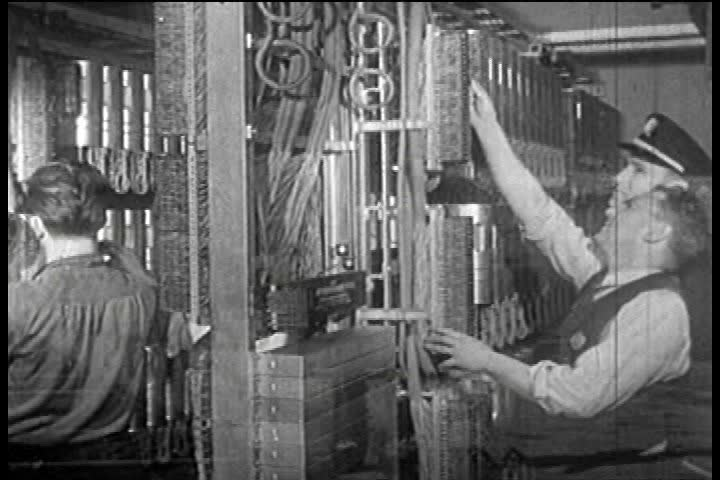 CIRCA 1940s - A commentary of production facilities in the US during WW II and the continuing effort to expand and modernize the telephone in the 1940s.