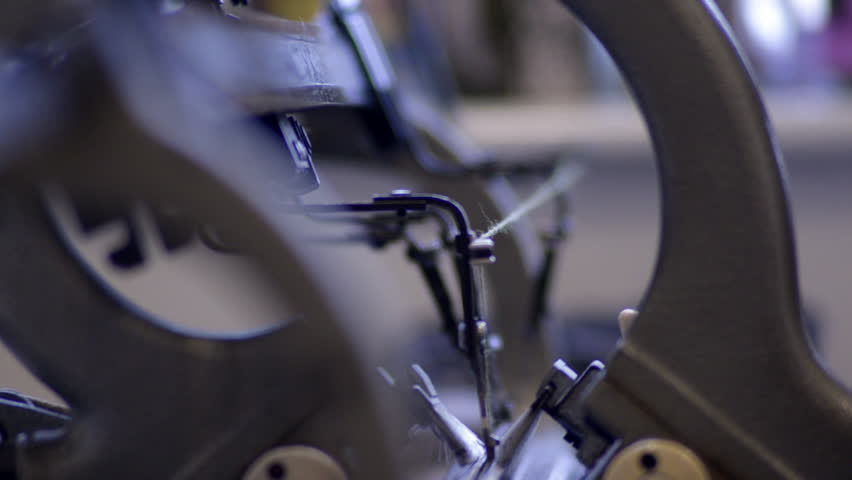 Deep Focus Shot of a Knitting Machine Mechanism | Shutterstock HD Video #13191386