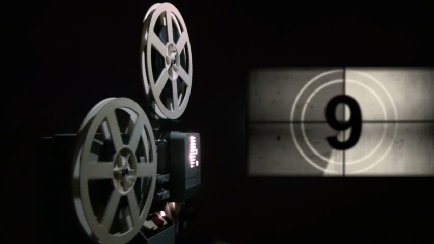 Old Projector Showing Film Universal Stock Footage Video 100