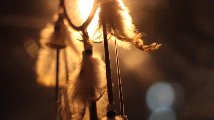 Dreamcatcher night in the wind