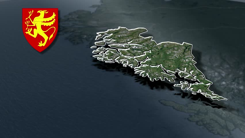 Norway Map Stock Footage Video Shutterstock - Norway map hd