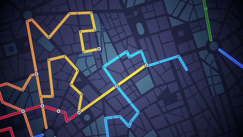 GPS Navigation, Localization. Seamless loop. 4k - Ultra HD.
