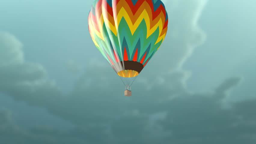 Animation of Thermal image showing temperature variation in a hot air balloon.